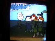 Girls cheering while Charlie Brown gets desperate