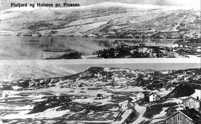 File:Finnfjord around 1910. Picture taken from Øyjord overlooking Finnfjord.jpg