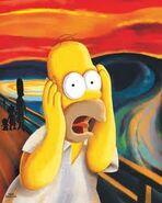 Homer as The Scream