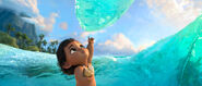 Moana and the water