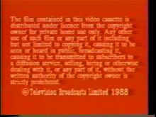 1988 HK-TVB International Limited Warning screen (in English)