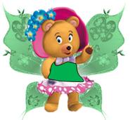 Tessie bear as a fairy