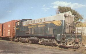 Lost Engines of Roanoke - Chesapeake Western 662 (Baldwin DS-4-4-660 diesel)