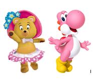 Tessie and Pink yoshi
