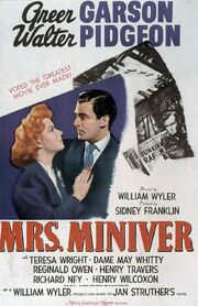1942 - Mrs Miniver Movie Poster