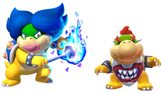 File:Ludwiga and Bowser jr.PNG