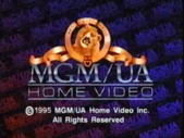 MGM UA Home Video Copyright Screen (1995 Variant)