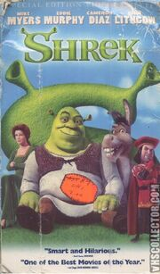 Shrek 2001 VHS