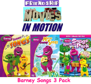 Friendship At The Movies In Motion - Barney Songs 3 Pack