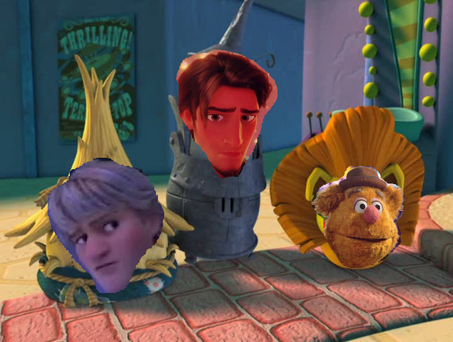 File:Kristoff, flynn rider and fozzie bear.png