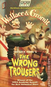 Wallace And Gromit The Wrong Trousers VHS Front Cover
