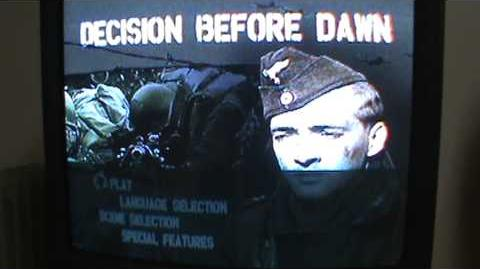 Opening to Decision Before Dawn 2006 DVD