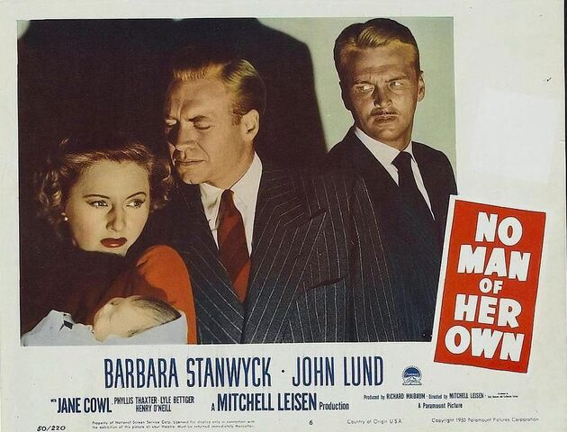 File:1950 - No Man of Her Own Movie Poster.jpg