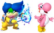 Ludwiga and Pink yoshi
