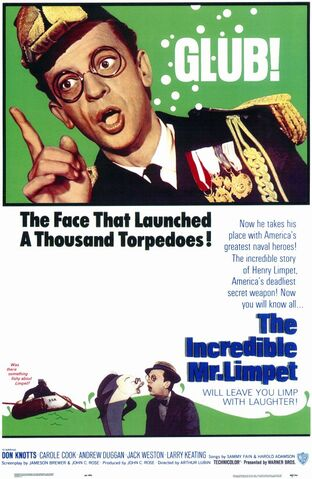 File:1964 - The Incredible Mr. Limpet Movie Poster.jpg