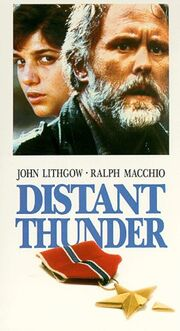Distant Thunder 1992 VHS (Front Cover)