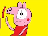Peppa Pig And George Pig Is Eating A Red Thing And Full And Calls Homer Simpson 0895