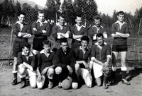 Pioner (Finnfjord area) Soccer Team 1960s Ingvart Bergeton Henriksen no. 2 from left on front row