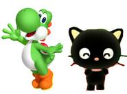 Yoshi and Chococat