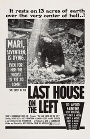 1972 - The Last House on the Left Movie Poster