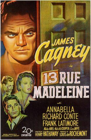 File:1947 - 13 Rue Madeleine Movie Poster.jpg