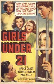 1940 - Girls Under 21 Movie Poster