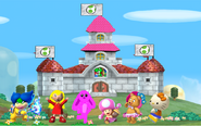 Mane 6 in Yoshi's castle