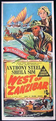 1954 - West of Zanzibar Movie Poster
