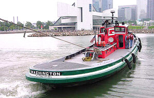208B-'Washington and the Welcome Ship'