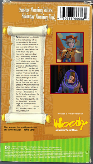 Character Story VHS back cover