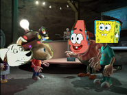 Patrick and spongebob thinks about e.b. brain