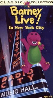 Barney Live In New York City VHS Cover