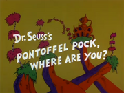 1980 - Pontoffel Pock, Where Are You Title Card