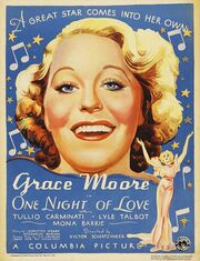 1934 - One Night of Love Movie Poster