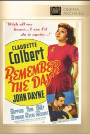 1941 - Remember the Day DVD Cover (2013 Fox Cinema Archives)