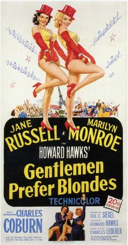 File:1953 - Gentlemen Prefer Blondes Movie Poster.jpg