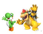 Yoshi and Bowser