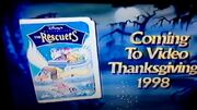 The Rescuers Thanksgiving 1998 VHS Preview