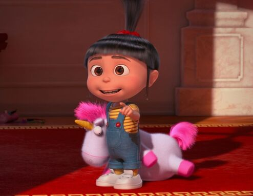 Despicable me 2 agnes and fluffy unicorn