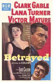 1954 - Betrayed Movie Poster