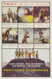 1959 - They Came to Cordura Movie Poster