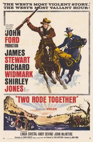 File:1961 - Two Rode Together Movie Poster.jpg