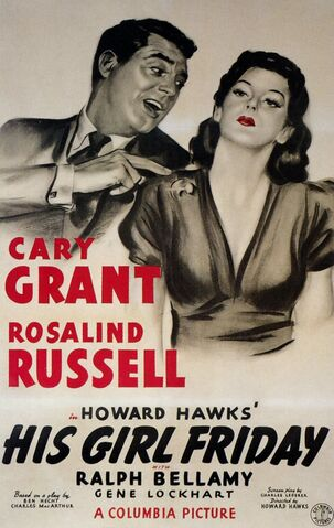 File:1940 - His Girl Friday Movie Poster.jpg