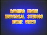 Coming From Universal Studios Home Video