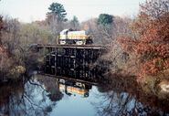 Medfield MA 10-27-89 crossing Charles River
