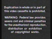 Random House Home Video FBI Warning