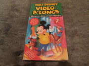 Walt Disney Video-A-Longs Mickey's Discovery Series VHS