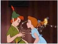 Peter Pan Kissing