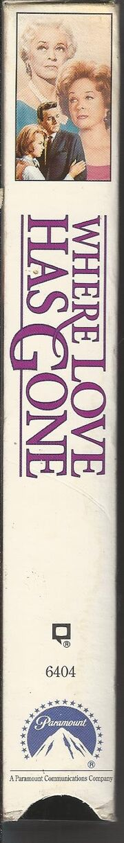 Where Love Has Gone 1992 VHS (Spine Cover)