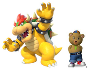 Bowser and Master tubby bear